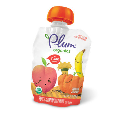 Plum Organics Smoothie Peach & Banana