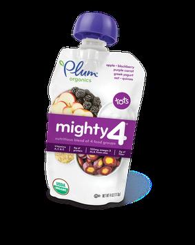 Plum Organics Mighty 4® Blends Apple, Blackberry, Purple Carrot, Greek Yogurt, Oat & Quinoa