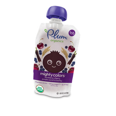 Plum Organics Mighty Colors™ Blueberry, Cherry, Purple Carrot & Barley