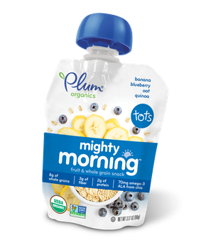 Plum Organics Mighty Morning™ Banana, Blueberry, Oat & Quinoa