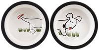 Melia Pet Dog Front and Back Dishes - Medium - 2 pk.