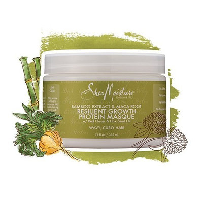 SheaMoisture Bamboo Extract & Maca Root Resilient Growth Protein Masque