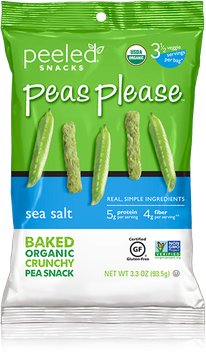 Peeled Snacks Peas Please Sea Salt