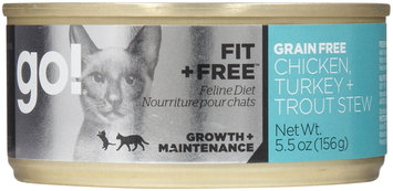 Go! Fit+Free Grain Free Chicken, Turkey & Trout Stew - 24x5.5oz