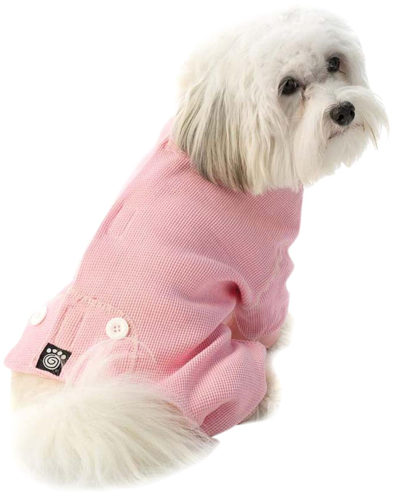 Pet Rageous Designs Cozy Thermal Dog Pajamas Medium Pink