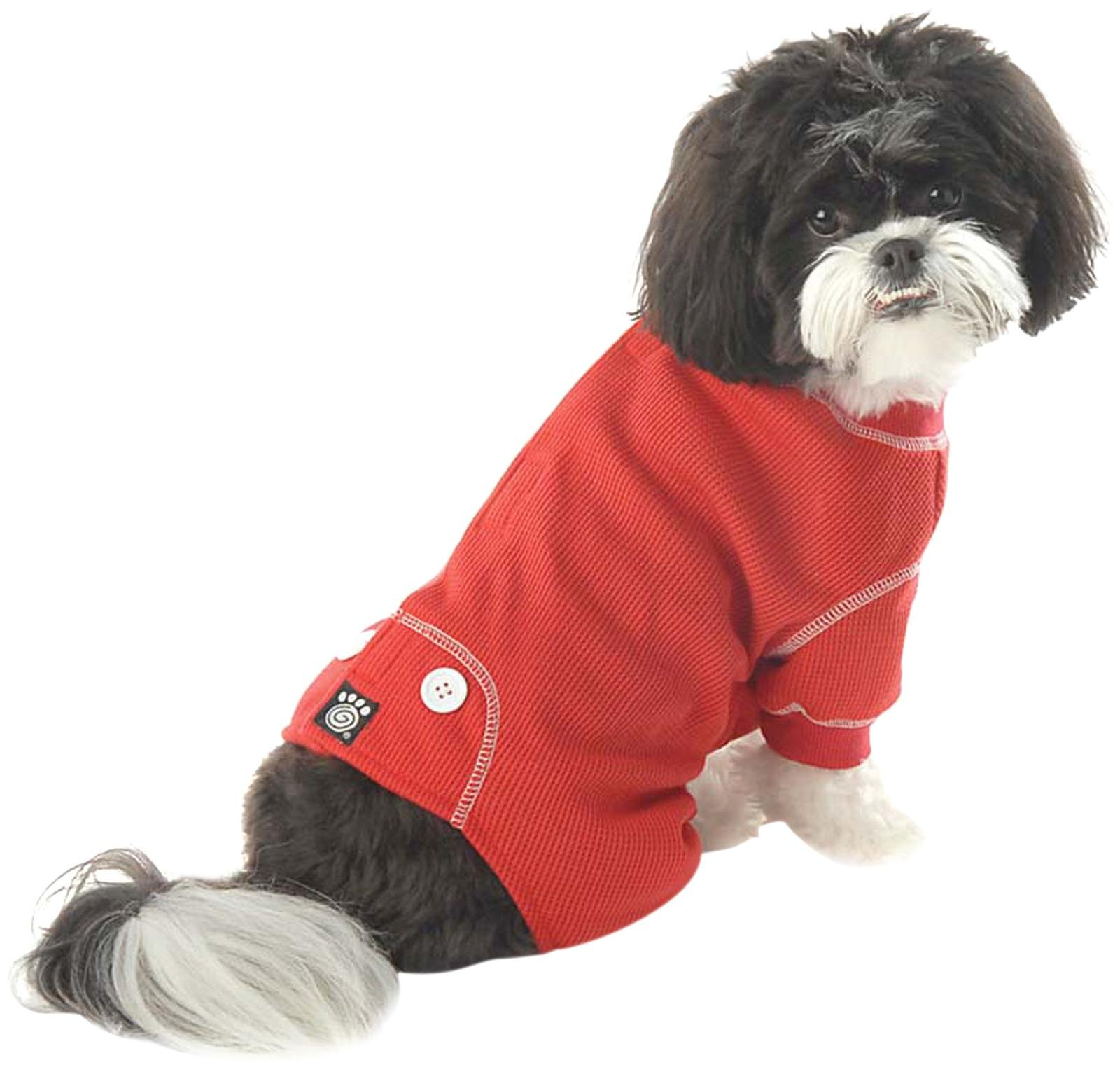 Pet Rageous Designs Cozy Thermal Dog Pajamas Small Red