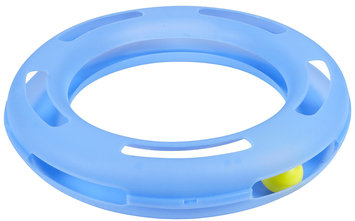 Petmate Crazy Circle Cat Toy, Large, Color: Blue