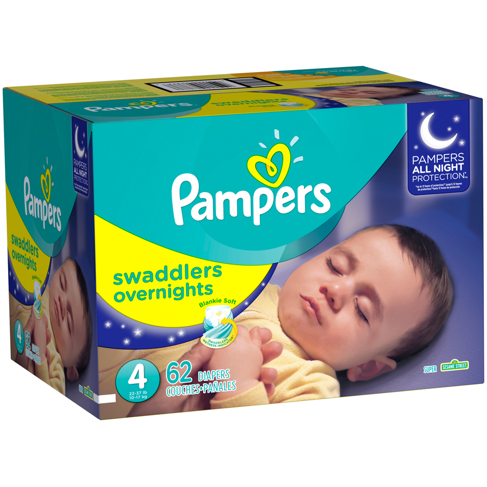 Pampers® Swaddlers™ Overnights Diapers Size 4