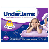 Pampers® UnderJams™ Diapers Bedtime Underwear Girls Size S/ M