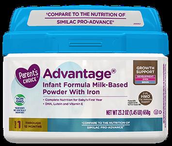 Parent's Choice™ Advantage® Infant Formula with Iron