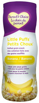 Parent's Choice Banana Little Puffs Cereal Snack