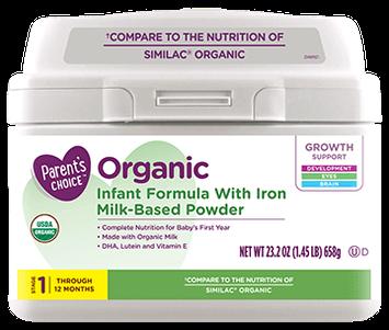 Parent's Choice™ Organic Baby Formula