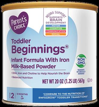 Parent's Choice™ Toddler Beginnings™ 2 Formula for Older Infants