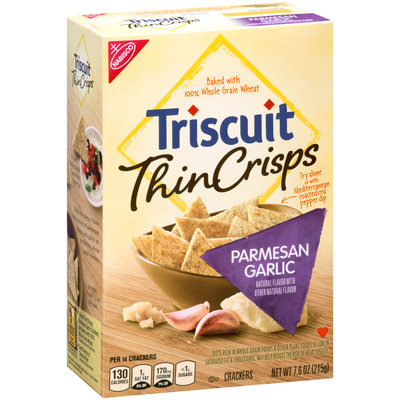 Nabisco Triscuit - Crackers Thin Crisps - Baked Whole Grain Wheat Parmesan Garlic