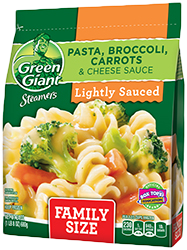 Green Giant® Steamers Pasta, Broccoli, Carrots & Cheese Sauce