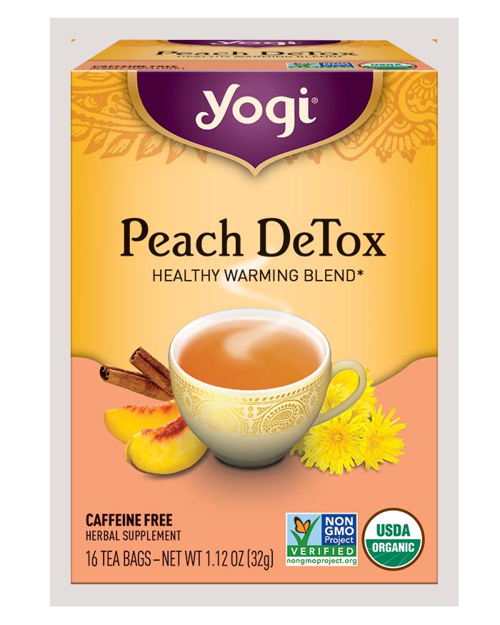 Yogi Tea Yogi Peach DeTox Herbal Tea Bags
