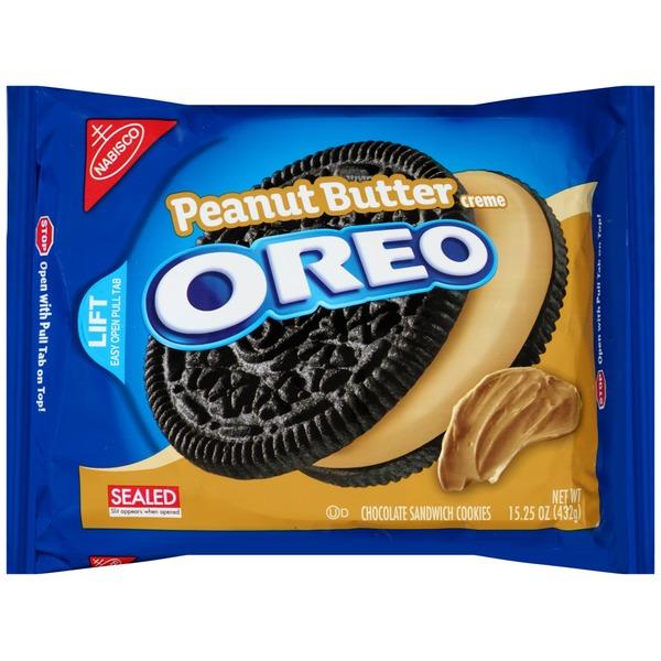 Nabisco Oreo Cookies Peanut Butter Creme