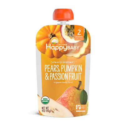 Happy Baby® Organics Clearly Crafted™ Pears, Pumpkin & Passion Fruit