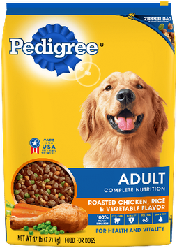 Pedigree® Adult Complete Nutrition Roasted Chicken, Rice and Vegetable Flavor Dog Food