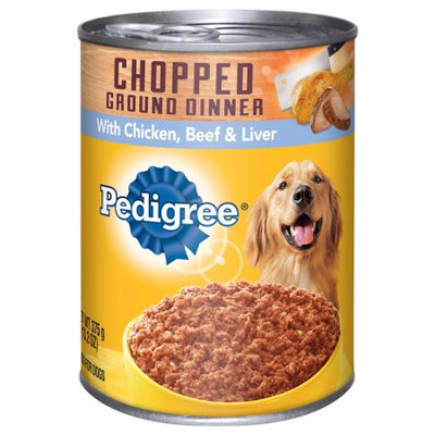 Pedigree® Pedigree Chopped Ground Dinner Combo With Chicken, Beef & Liver Wet Dog Food
