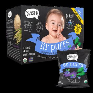 Nosh Lil' Puffs Organic Grain Cereal Puffs Blueberry Purple Carrot