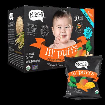 Nosh Lil' Puffs Organic Grain Cereal Puffs Mango & Carrot