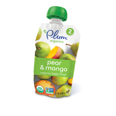 Plum Organics Second Blends Pear & Mango