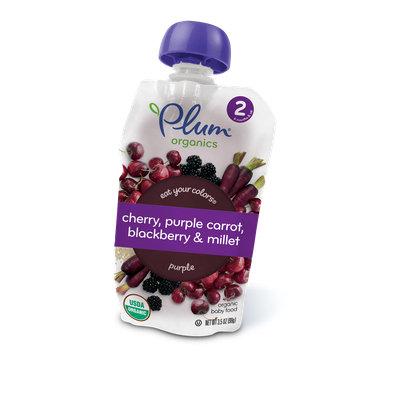 Plum Organics Eat Your Colors® Cherry, Purple Carrot, Blackberry & Millet