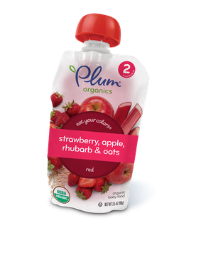Plum Organics Eat Your Colors® Strawberry, Apple, Rhubarb & Oats