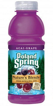 Poland Spring® Nature's Blends™ Acai-Grape Spring Water & Real Juice 16 fl. oz. Plastic Bottle