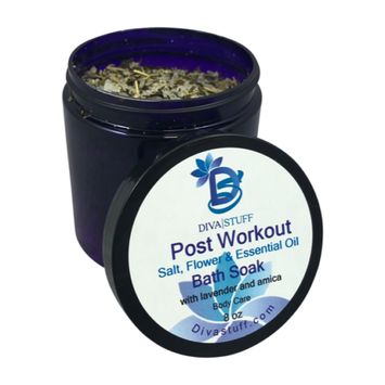 Diva Stuff Post Workout Bath Tea Soak With Epsom Salts, Dried Flowers And Essential Oils