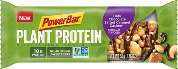 PowerBar Plant Protein Nourishing Snack Bar Dark Chocolate Salted Caramel Cashew