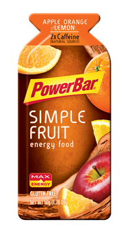 PowerBar Simple Fruit Energy Food Apple Orange Lemon
