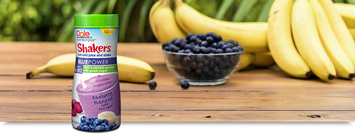 Dole Nutrition Plus Shakers Blue Power Blueberry Banana with Red Beet