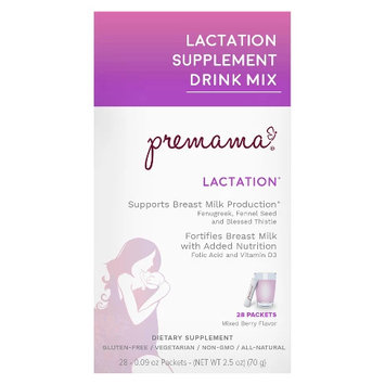 Premama Mixed Berry Lactation Support Drink Mix