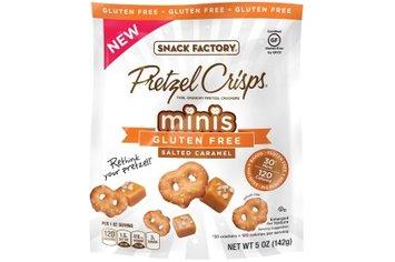 Pretzel Crisps Gluten Free Minis Salted Caramel