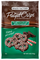 Pretzel Crisps® Snacks Dark Chocolate & Peppermint