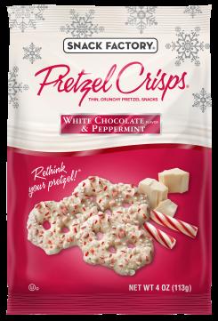 Pretzel Crisps® White Chocolate & Peppermint
