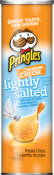 Pringles® Lightly Salted Cheddar Cheese Potato Crisps