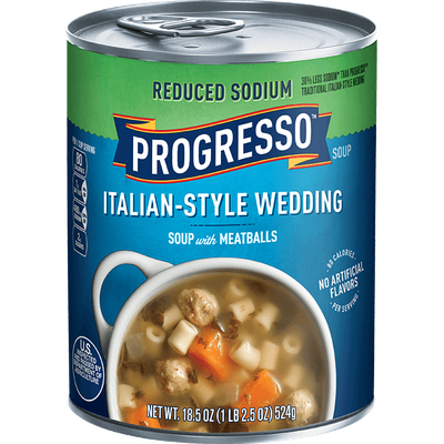 Progresso™ Reduced Sodium Italian-Style Wedding Soup with Meatballs Soup