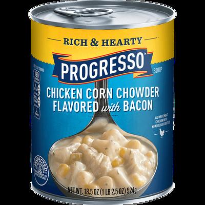 Progresso™ Rich & Hearty Gluten Free Chicken Corn Chowder Flavored with Bacon Soup