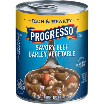 Progresso™ Rich & Hearty Savory Beef Barley Vegetable Soup