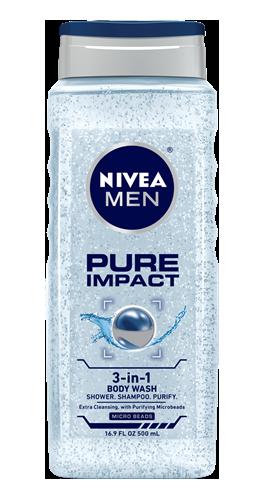 NIVEA Pure Impact Body Wash