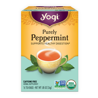 Yogi Organic Herbal Tea Caffeine Free Purely Peppermint