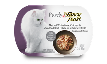 Fancy Feast® Natural White Meat Chicken & Shredded Beef Wet Cat Food In A Delicate Broth