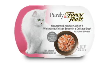 Fancy Feast® Natural Wild Alaskan Salmon & White Meat Chicken Wet Cat Food In A Delicate Broth