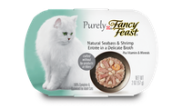 Fancy Feast® Natural Seabass & Shrimp Wet Cat Food In A Delicate Broth