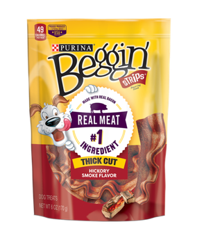 Beggin'® Thick Cut Hickory Smoked Flavor Dog Treats