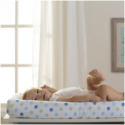 BreathableBaby Wick-Dry Changing Pad Cover- Blue Dot