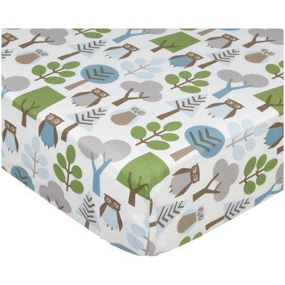Dwell Furniture DwellStudio Owls Printed Fitted Crib Sheet